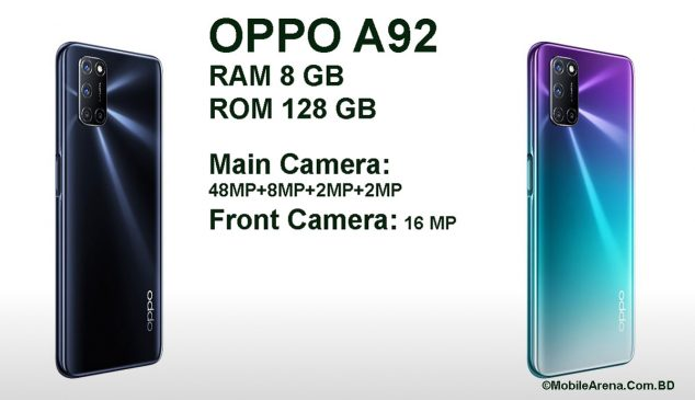 Oppo A92 Price in Bangladesh