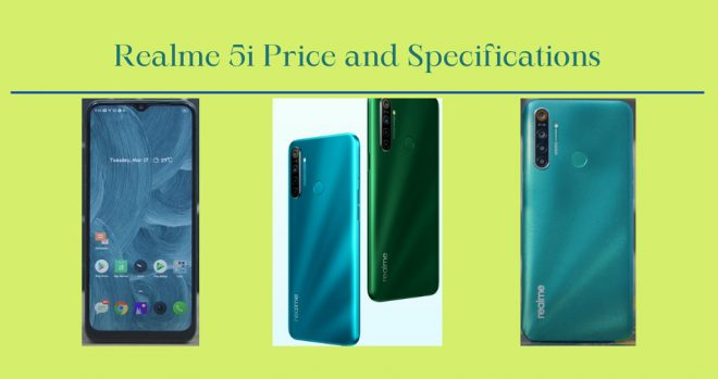 Realme 5i Pric and Features-in Bangladesh
